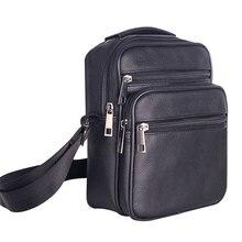 Мужские Кожаные Малый Сумка через плечо Многофункциональный Crossbody сумка для путешествий Повседневное мужской на молнии чехол для телефона