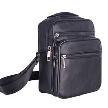 Mens Leather Small Messenger Bag Satchels Multifunctional Crossbody Shoulder Bag for Travel Casual Male Zipper Pouch Phone Bag(China)