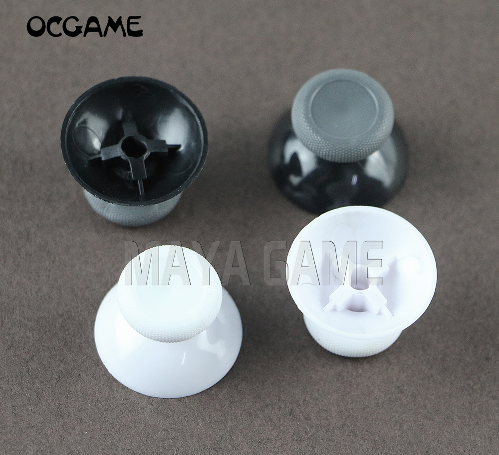 OCGAME 300pcs/lot Black&white 3d Analog Thumb Sticks for XBox One S Slim Controller Analogue Joystick Caps Mushroom-in Replacement Parts & Accessories from Consumer Electronics    1