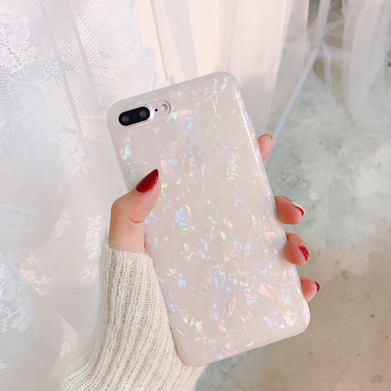 Glitter Foil Sequins soft tpu case For iphone X XR XS XS Max Dream Shell soft silicone case for