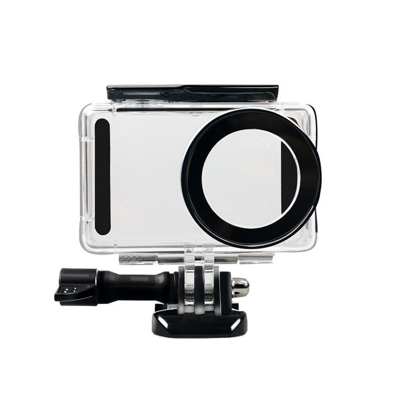 Para xiao/mi mi jia 4 k mi ni ação câmera 45 m à prova dwaterproof água mergulho habitação caso kit