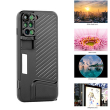 Sale 2017 New Arrival For iPhone 7 Plus Dual Camera Lens Fisheye Wide Angle Macro Lens Telescope Lens With Phone Case Cover 6-in-1