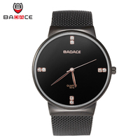 BADACE Men Luxury Gold Sport Watch Men S Watches Ultra Thin Stainless Steel Mesh Band Quartz