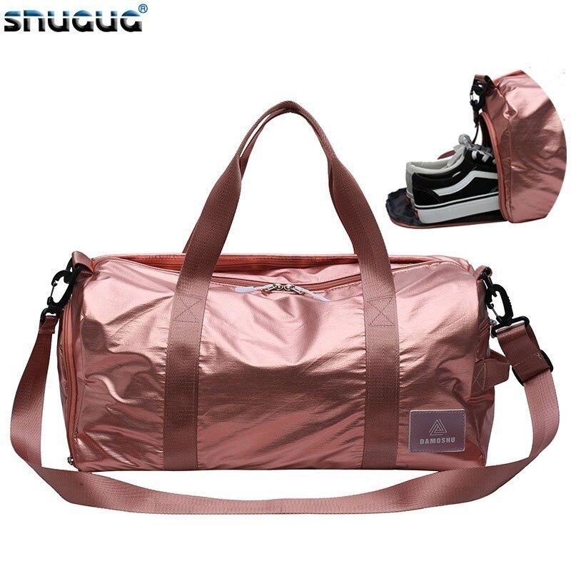 2019 Nylon Training Bag Men Gym Bags With Shoe Double Zipper Travel Duffle Bag For Women Waterproof Luggage Shoulder Bag Sports