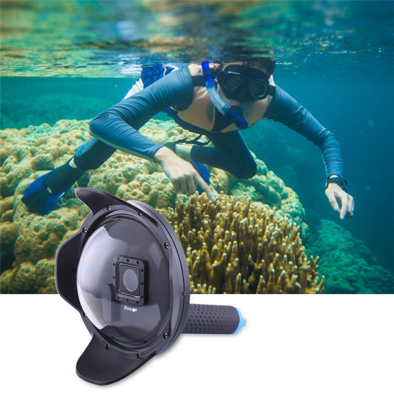Shoot Underwater Camera Dome Port Lens Hood + Extra LCD Storage Gopro Hero 3+ 4 shoot underwater camera dome port lens hood extra lcd storage gopro hero 3 4
