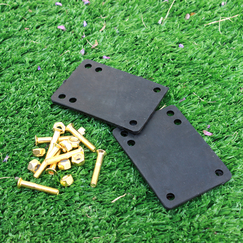 Skateboard 3mm Rubber Gasket 29mm Golden Riserpad Bolts Skateboard Parts Double Rocker Parts