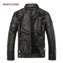 MANTLCONX 2019 New Brand Motorcycle Leather Jacket Men Leather Jacket jaqueta de couro masculina Men's Fashion Spring Jacket