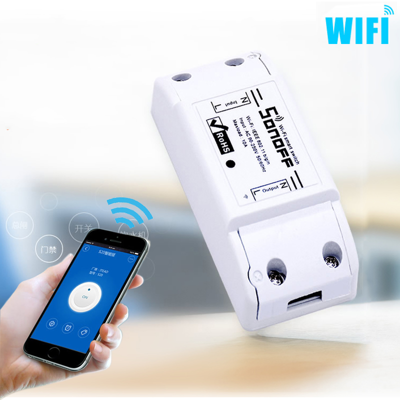 newest wifi wireless smart switch intelligent diy remote control wifi switch 10a 2200w timer. Black Bedroom Furniture Sets. Home Design Ideas