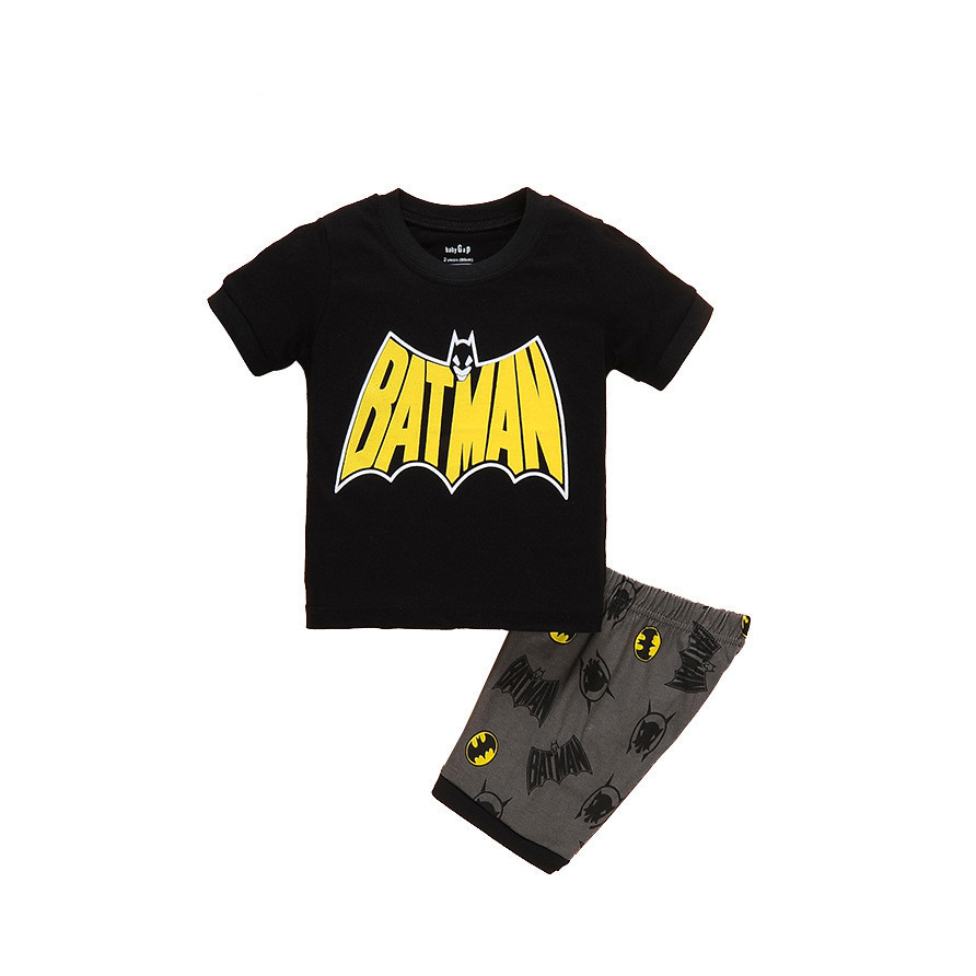 Cosplaydiy superhero kids cartoon t shirt pajamas boys homewear batman spiderman homecoming pajamas spider man shirt pants j20-2