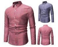 2019 New PG65469 Shirt Male Without Pocket Men Clothes Slim Fit Men Long Sleeve Shirt Men Casual Men Shirt Social Plus Size