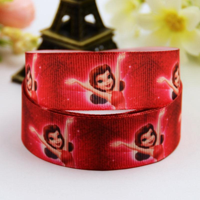 7/8 (22mm) Tinker Bell Cartoon Character printed Grosgrain Ribbon party decoration satin ribbons OEM 10 Yards X-00709