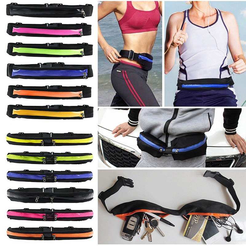 Men Women Running Bum Bag Single/Double Pockets Belt Pouch Waterproof Sport Bags For Outdoor Cycling Jogging