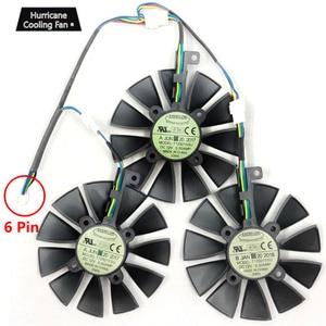 Image 3 - חדש 87 MM Everflow T129215SU DC 12 V 0.5AMP 4Pin 4 חוט קירור מאוורר עבור ASUS GTX980Ti R9 390X390 GTX1070 כרטיס מסך מאוורר
