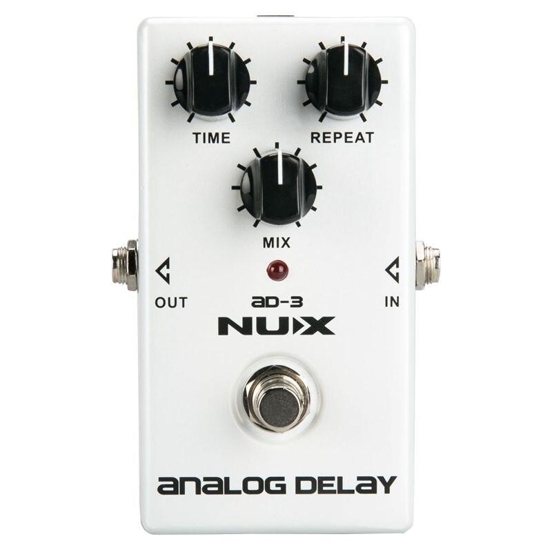 NUX AD3 pédale d'effets de guitare effet de retard analogique Circuit de retard BBD à faible bruit temps de retard 20-300ms