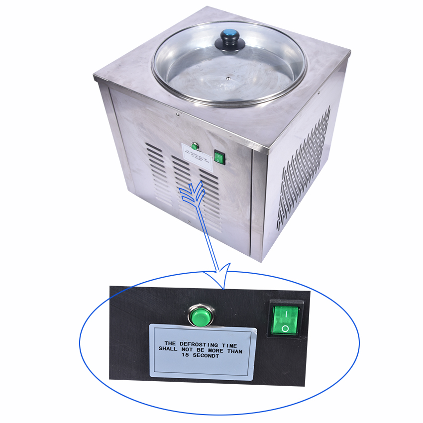 Ice Cream Maker, Ice Machine Professional Fry Machine, Single Round Pan Fried Yogurt, Drink, Ice Cream CB-340A