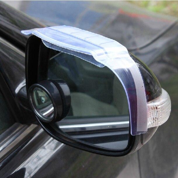 2pcs Car Universal Rain Shield Flexible Peucine With Air Guide Auto Rear Mirror Guard Rearview Mirror Rain Shade