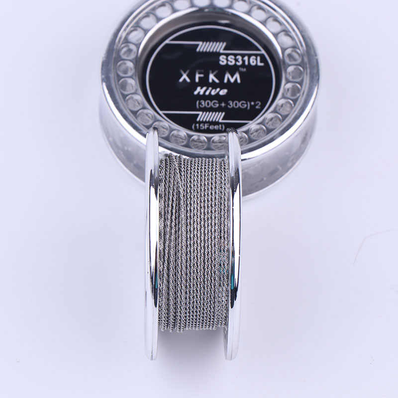 XFKM 5m/roll SS316L Alien DIY Wire Atomizer Coil clapton tiger quad twisted alien fused clapton twisted mix twisted wire for RDA