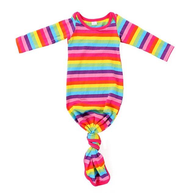 Mint White Stipe Baby Gown Sprint Wholesale Newborn Sleeping Bag ...