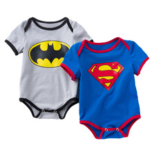 Body For Newborn Babys Superman Romper Twins Baby Bodysuits Batman Infant-clothing