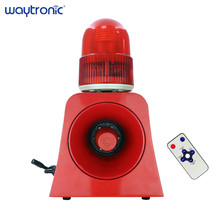 Portable Wireless Microwave Motion Detector Sound Light Alarm Device with 20W High Power Horn Speaker microwave sensor alarm sf 500a wireless industrial sound and light alarm device led flash beacon light sound siren with usb port
