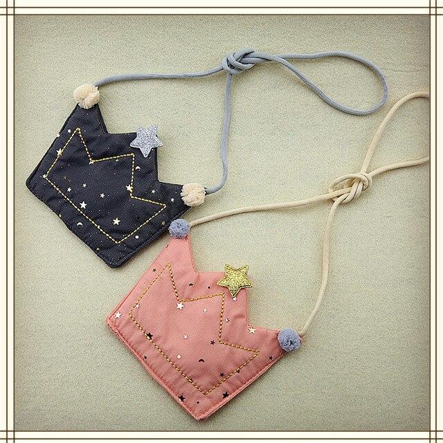 Nueva gran venta chicas monedero cartera niños corona un hombro bolsa pequeña moneda monedero cambio cartera niños bolso cartera de bebé