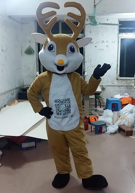 Haute qualité Anime élans cerf Cospaly Costumes orignal Mascotte Costume adulte offre spéciale orignal carnaval Mascotte Kits de déguisement