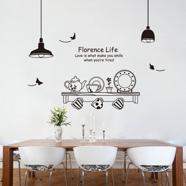 Kitchen cooking tools wall sticker vinyl kitchen wallpaper for Poster deco cuisine