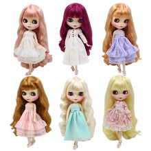 blyth doll joint body factory new matte face white skin Reborn Dolls DIY Make up ICY BJD Doll special price give hand set AB(China)