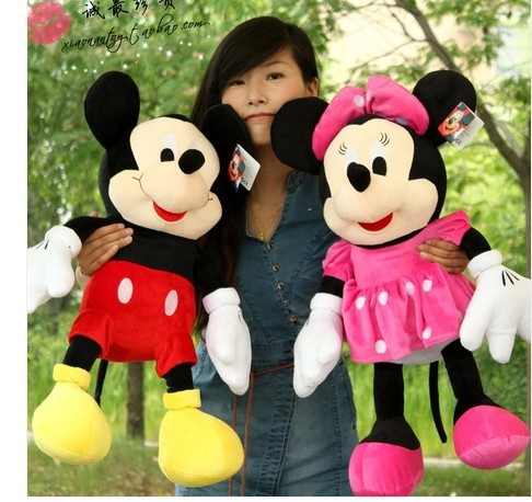 купить Movies & TV plush toy large 90cm Mickey and Minnie doll throw pillow Toy gift b0909 по цене 6329.21 рублей