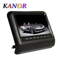 KANOR 2X10 inch car headrest dvd player with digital screen 32bit game+IR+USB+SD+FM+MP5 Support AV Out