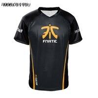 Dota2 CSGO LOL Champion FN Game Team Fnatic Jersey T Shirt O Neck casual Tees Game Athletics men women Fnatic T Shirt