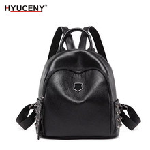 2018 Fashion Leisure Women Backpacks women Leather Female school shoulder bags for teenager girl Traveling backpack