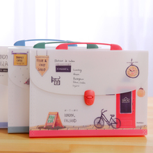 Stationery  Many Layers Of File Bags Student Office A4 Organ Bag Lovely Information Bag Handheld Folder цена и фото