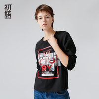 Toyouth Loose O Neck T Shirt For Women With Printing Cotton Women S T Shirts Spring