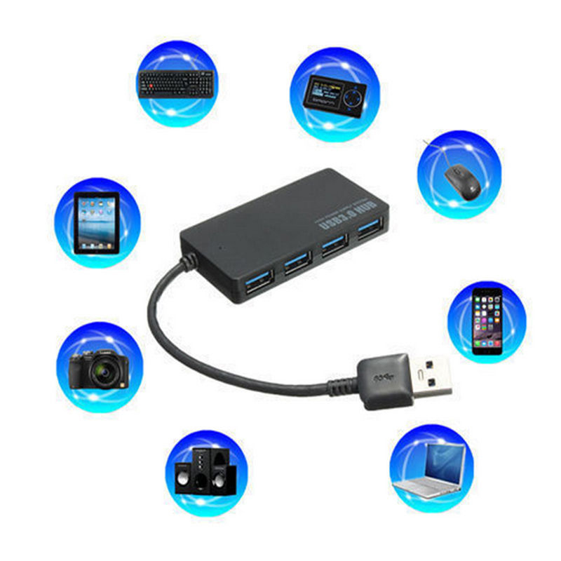 4 Ports USB 3.0 Hub Splitter Adapter High Speed 5Gbps For PC Laptop Adapter Hub With USB 2.0 And USB 1.0 Standards TOO
