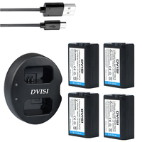 4pc NP FW50 NP FW50 Rechargeable Camera Battery+USB Dual Charger for Sony NEX 5 NEX 5A NEX 5C NEX 5DB NEX 5HB NEX 5K Alpha 7R II