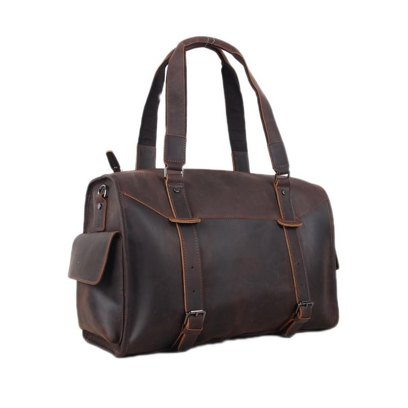 ROCKCOW Genuine leather travel bag men duffle bag Leather Overnight Bag 3002 georgia o keeffe