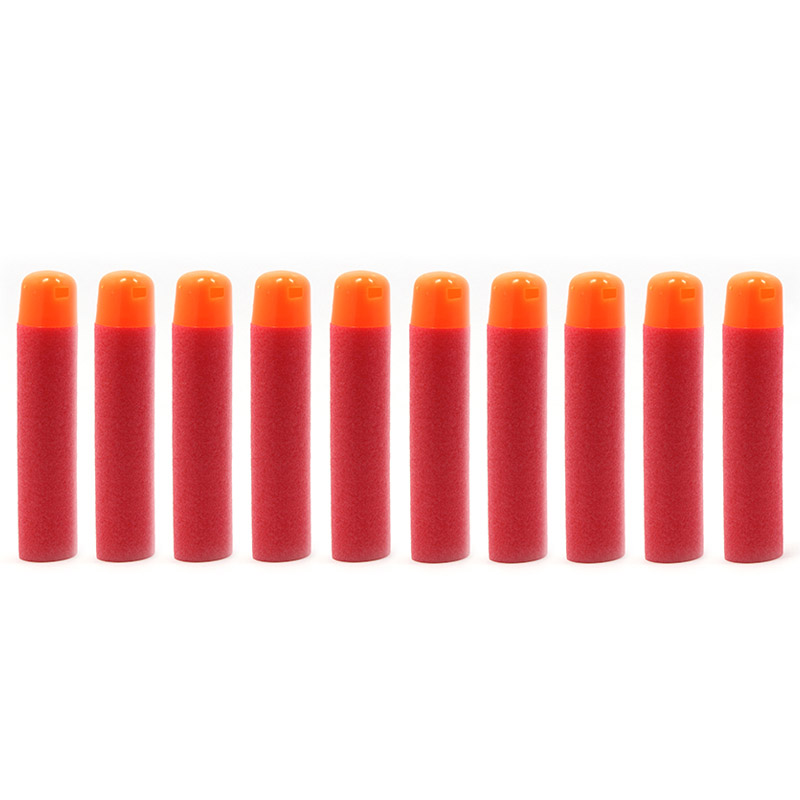 60 Pcs 9.5x2mm Red Big Refill Darts for Nerf Kids Toy Sniper Rifle Gun Hole Head Bullets Birthday Gift Outdoor Game Toy