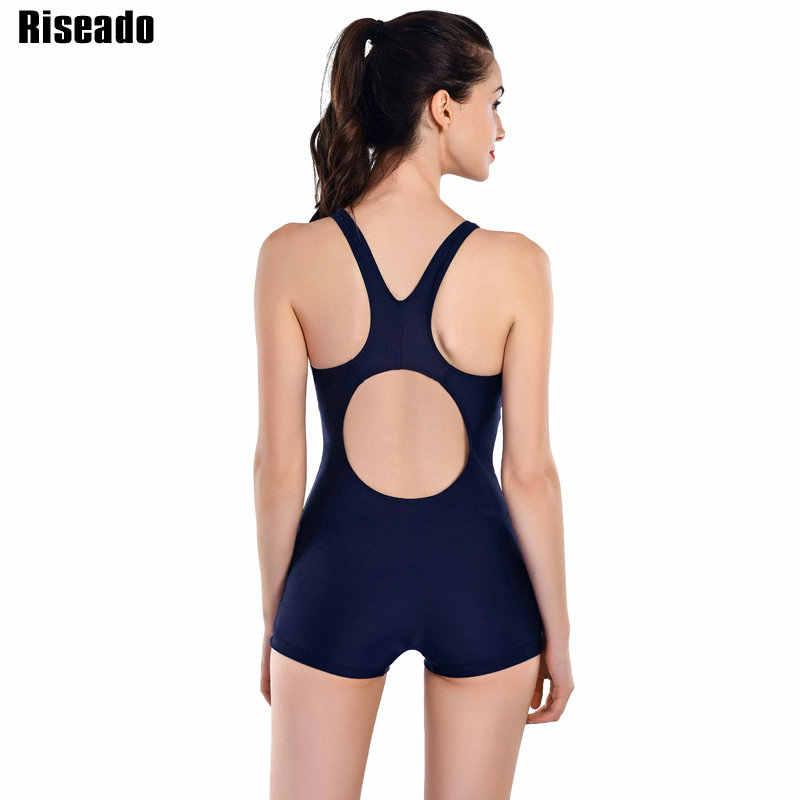 b4d0c8bba95 ... Riseado New One Piece Swimsuits 2019 Patchwork Swimwear Women Boyshorts  Racer Back Bathing Suits Swimming Suit ...