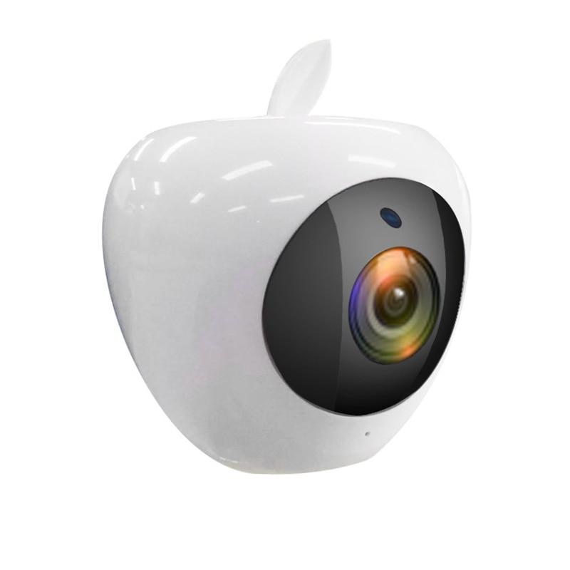 HATOSTEPED New White Apple Bluetooth Audio Wireless Network Camera Infrared Night Vision WIFI HD Network Surveillance Camera