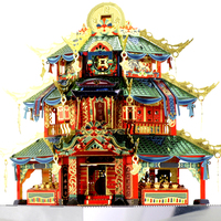 In Hua Street Series Jigsaw Puzzle Chinese Style Architecture Model Imposition Jigsaw Puzzle Cool Spell Manual Model