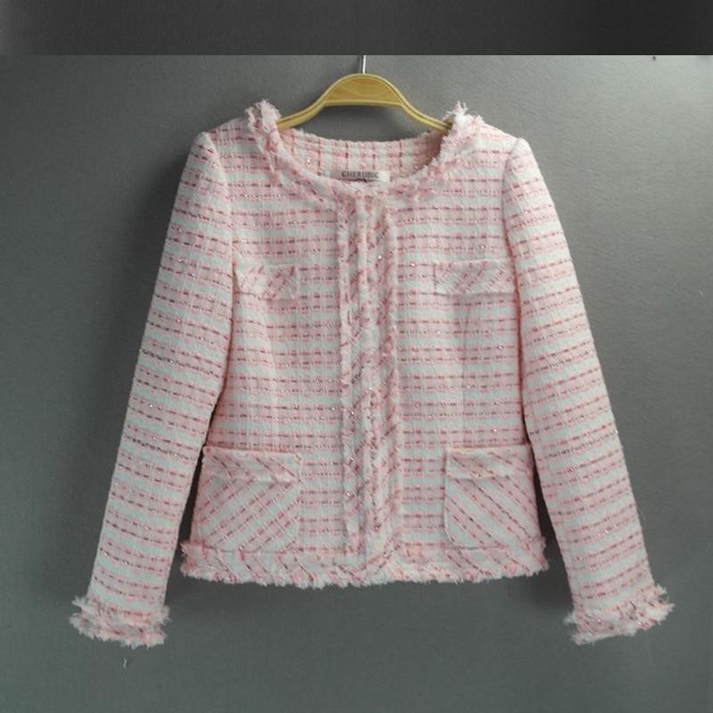 Online Buy Wholesale pink tweed jacket from China pink tweed ...