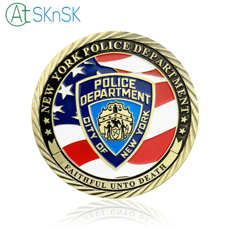 1pcslot Unite States Flag New York Police Department Challenge