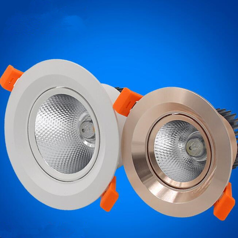 Super Bright Recessed LED Dimmable Downlight 7W 10W 15W 20W LED Spot light LED decoration Ceiling Down light Lamp AC85 265V in LED Downlights from Lights Lighting