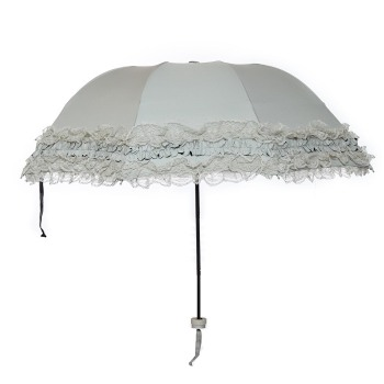 Susino Princess Umbrella Manual Open Sturty Metal Black Coating Compact Ultraslim Durability Umbrella 821013177T