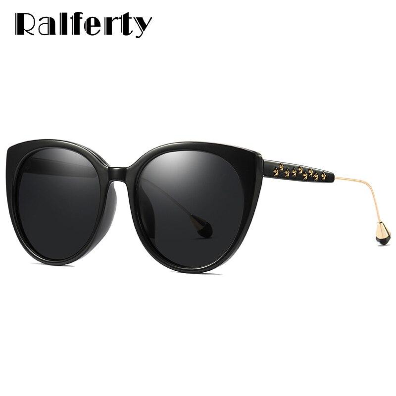 14412ee83 UV400 Ralferty Estrela Óculos De Sol Mulheres Polarizada Óculos de Sol  Mulheres Lente Gradiente de Óculos De Sol Do Olho de Gato Fêmea Tons  Sunglases ...
