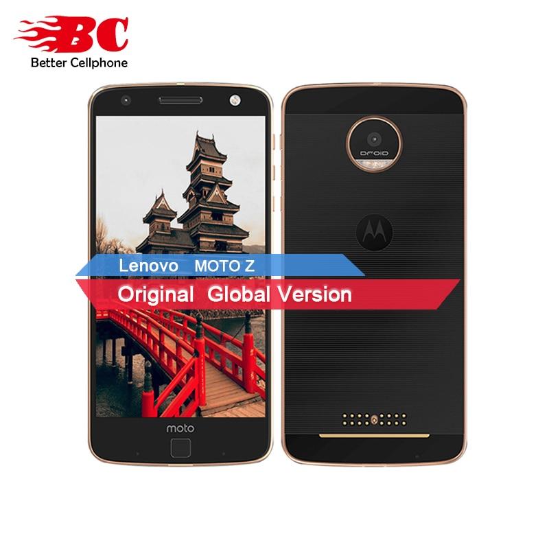D'origine Motorola MOTO Z XT1650-05 Quad Core Smartphone 4 gb RAM 64 gb ROM 4g LTE 5.5 pouce 2560X1440 Android 6.0 13.0MP 2600 mah
