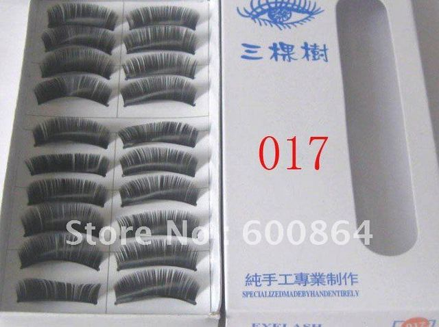 50pairs 017# Fashion Eyelashes eyelash extension False Eyelashes Fake Eyelashes artificial eyelash Hand made Eye lash