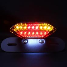Hot! White+Red Motorbike Portable Integrated LED Brake+Turn Signals Tail Lights Motorcycle Rear Turn Indicators Accessories