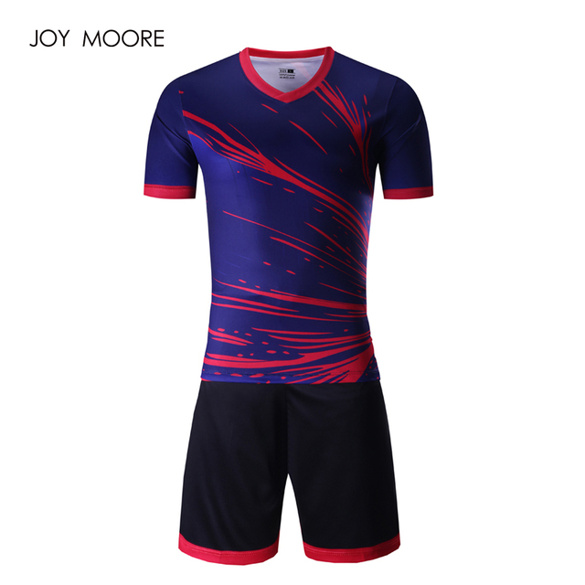 edf12f757 full sublimated soccer jerseys Thai Quality 2017 2018 newest Men s blue  pink sport football uniforms custom